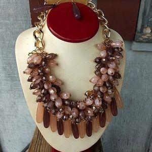 Beautiful full statement necklace set